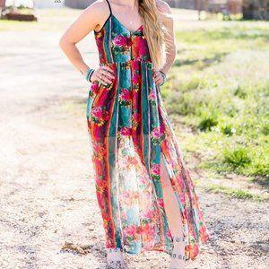 Crazy Train Floral Falls Maxi Dress